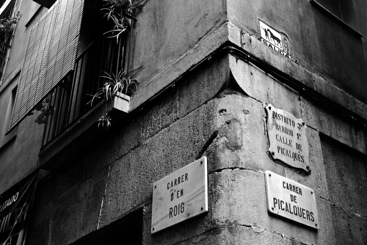 Street signs in Barcelona