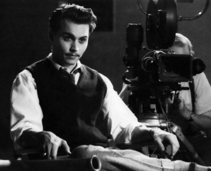 ED WOOD, Johnny Depp, Norm Alden (behind camera), 1994, © Buena Vista